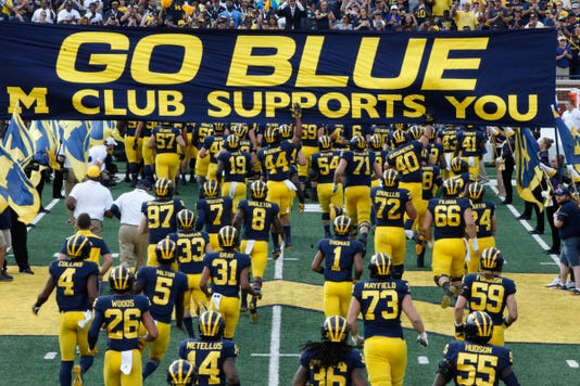 Go Blue, M Club Supports You, Michigan flag