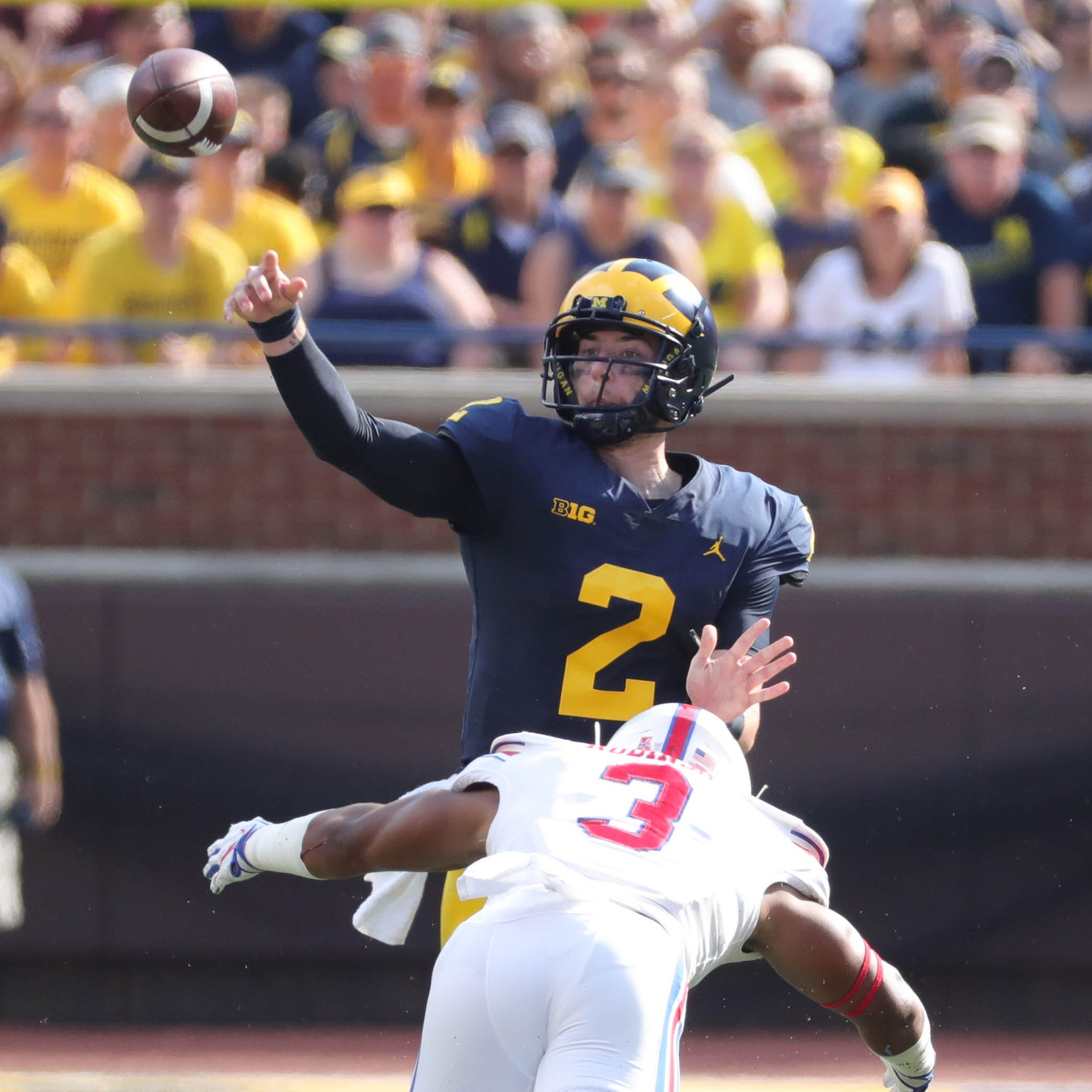 Michigan's Shea Patterson says he's never been more comfortable