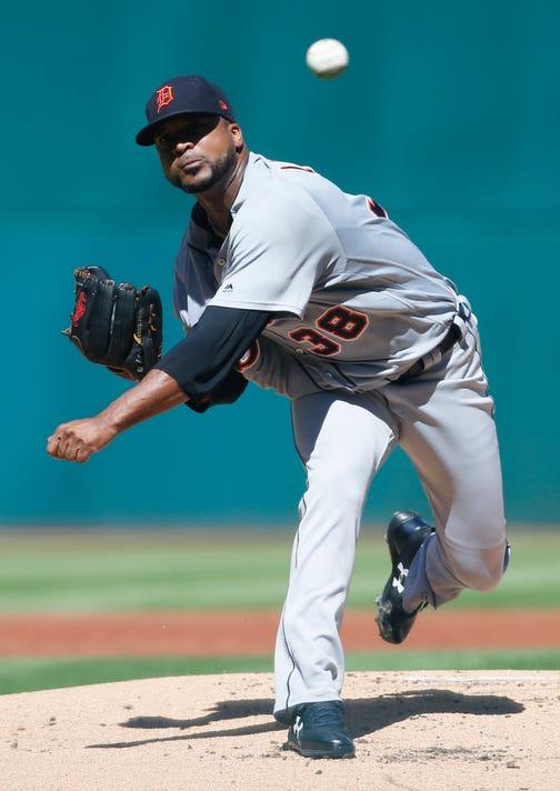 Ap Tigers Indians Baseball O8