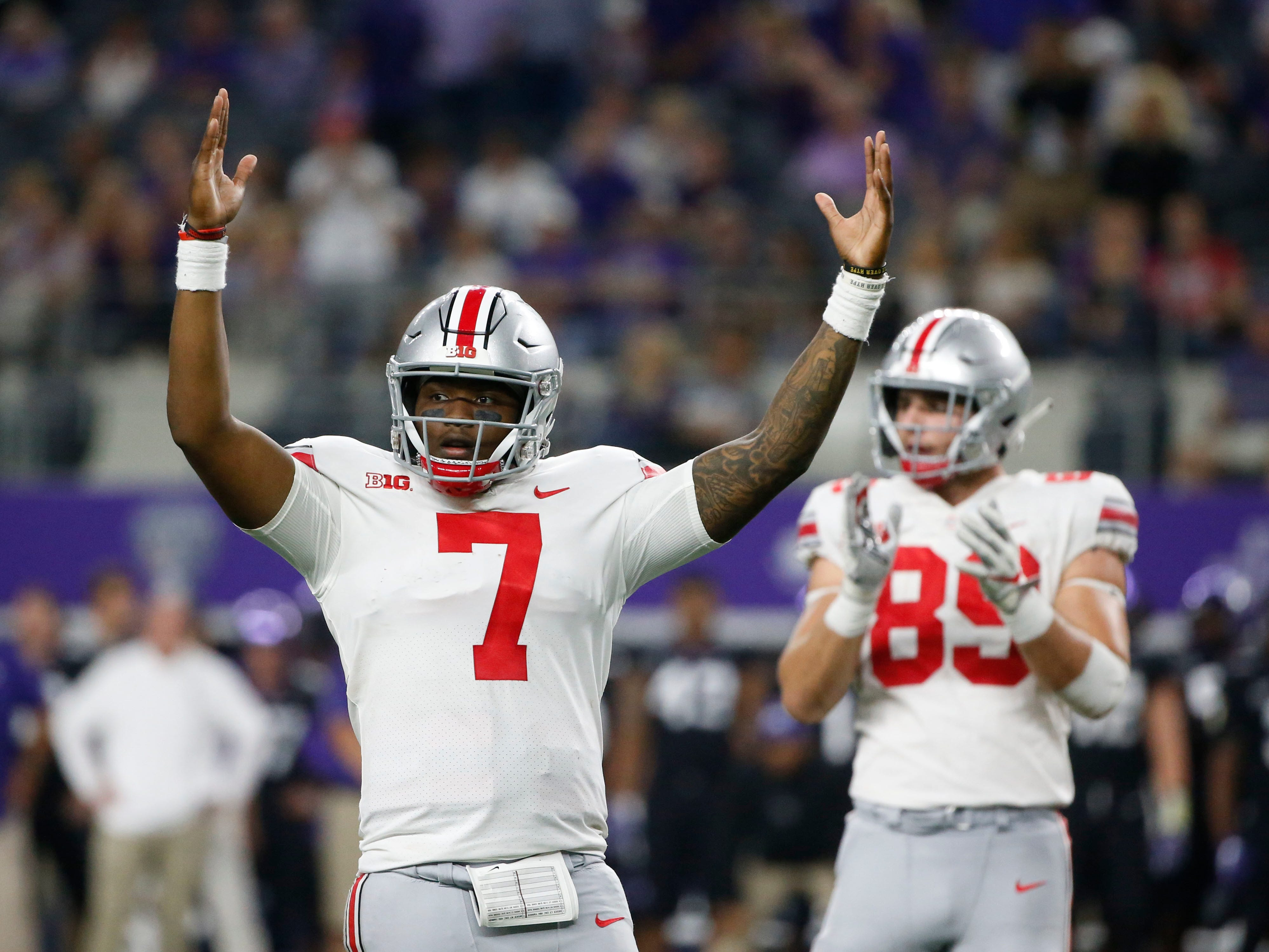 1. Ohio State (3-0, 1-0) – Just three weeks into the season, the Buckeyes might have proven themselves to the be the conference's lone legitimate contender for the College Football Playoff. A victory over TCU was further evidence as the Buckeyes exploded for three touchdowns in a four-minute span in the third quarter. A tune-up with Tulane is next before a trip to Penn State, a game that could go a long way in deciding the Big Ten East. Last week: 2.
