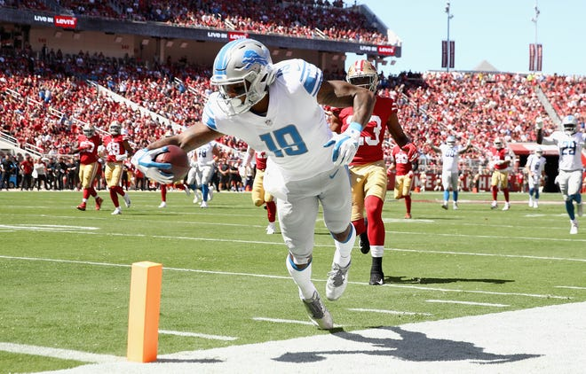 Lions wide receiver Kenny Golladay's six catches for 89 yards and a touchdown were a bright spot in Week 2's defeat to the 49ers.