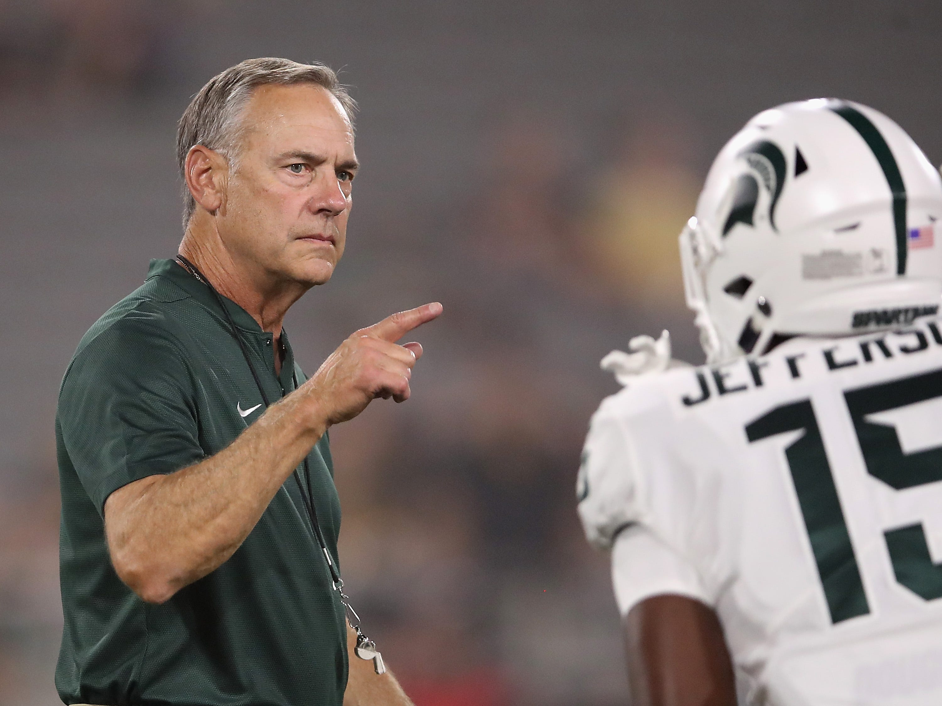6. Michigan State (1-1) – It was an off-week for the Spartans, which at least offered them the chance to avoid some of the losses the rest of the conference took. Getting past last week's loss at Arizona State and mending a few injuries will be vital as the Spartans open Big Ten play this week at Indiana. Last week: 6.