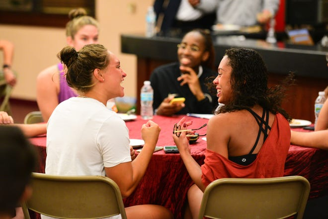 The Florida State University Student Government Association hosted a trivia night for student athletes at the Varsity Club on Wednesday night, teaching attendees about civic engagement.
