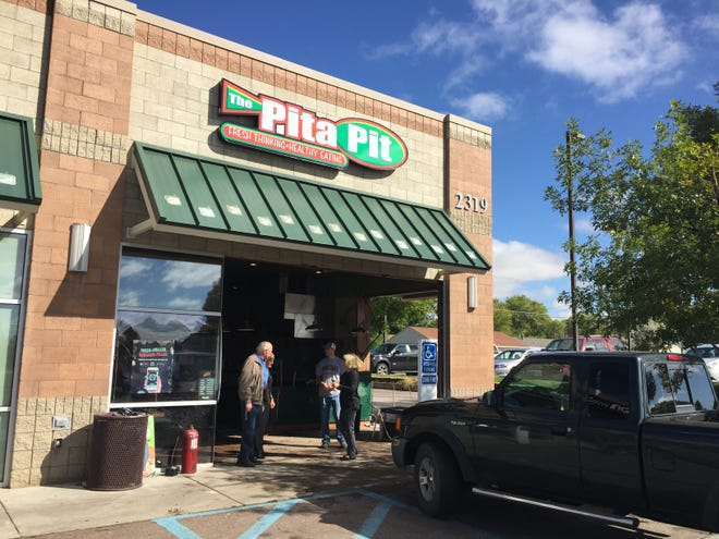 Pita Pit at 2325 10th Ave. S. was heavily damaged by a vehicle about 3 a.m. Sept. 16.