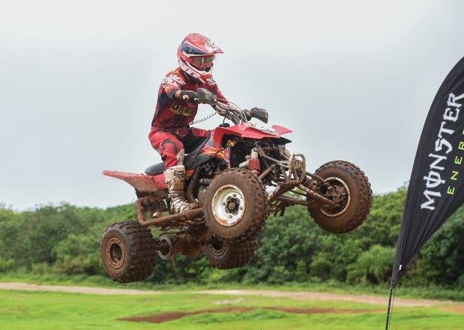 Big ATV competitor Robert Bucek during the Monster Energy 2018 Guam Motocross Championship at Guam International Raceway in Yigo, Sept. 16, 2016.