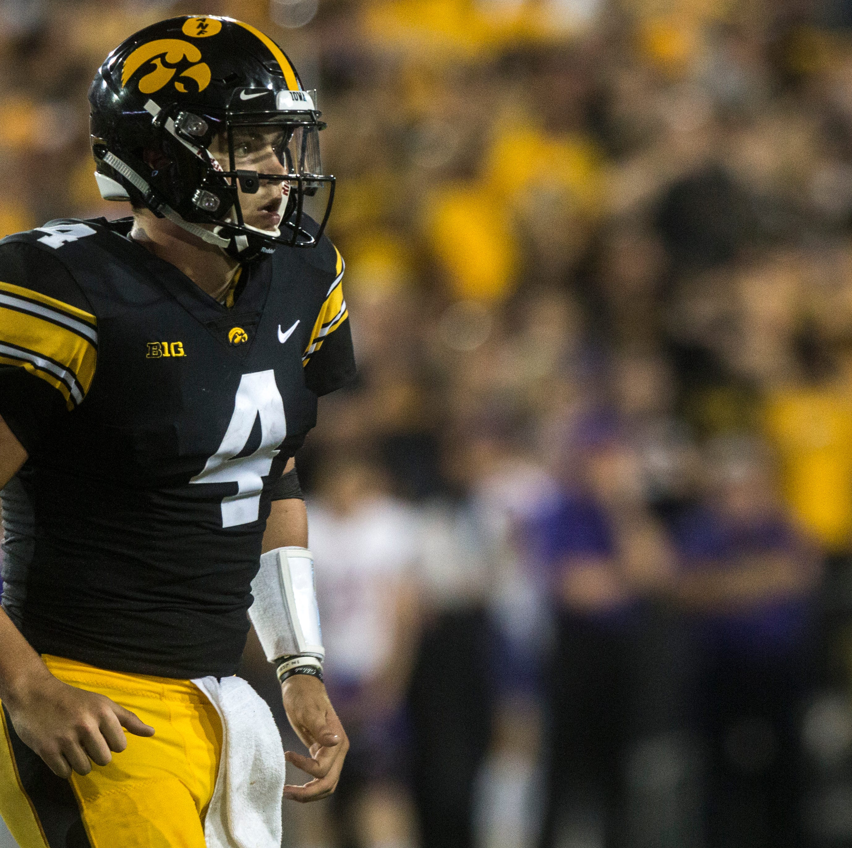 Iowa offense finds a groove and spreads the love in blowout win over Northern Iowa