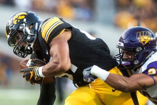 Noah Fant accumulated 78 receptions for 1,039 yards and 19 touchdowns during his three-year Iowa career.