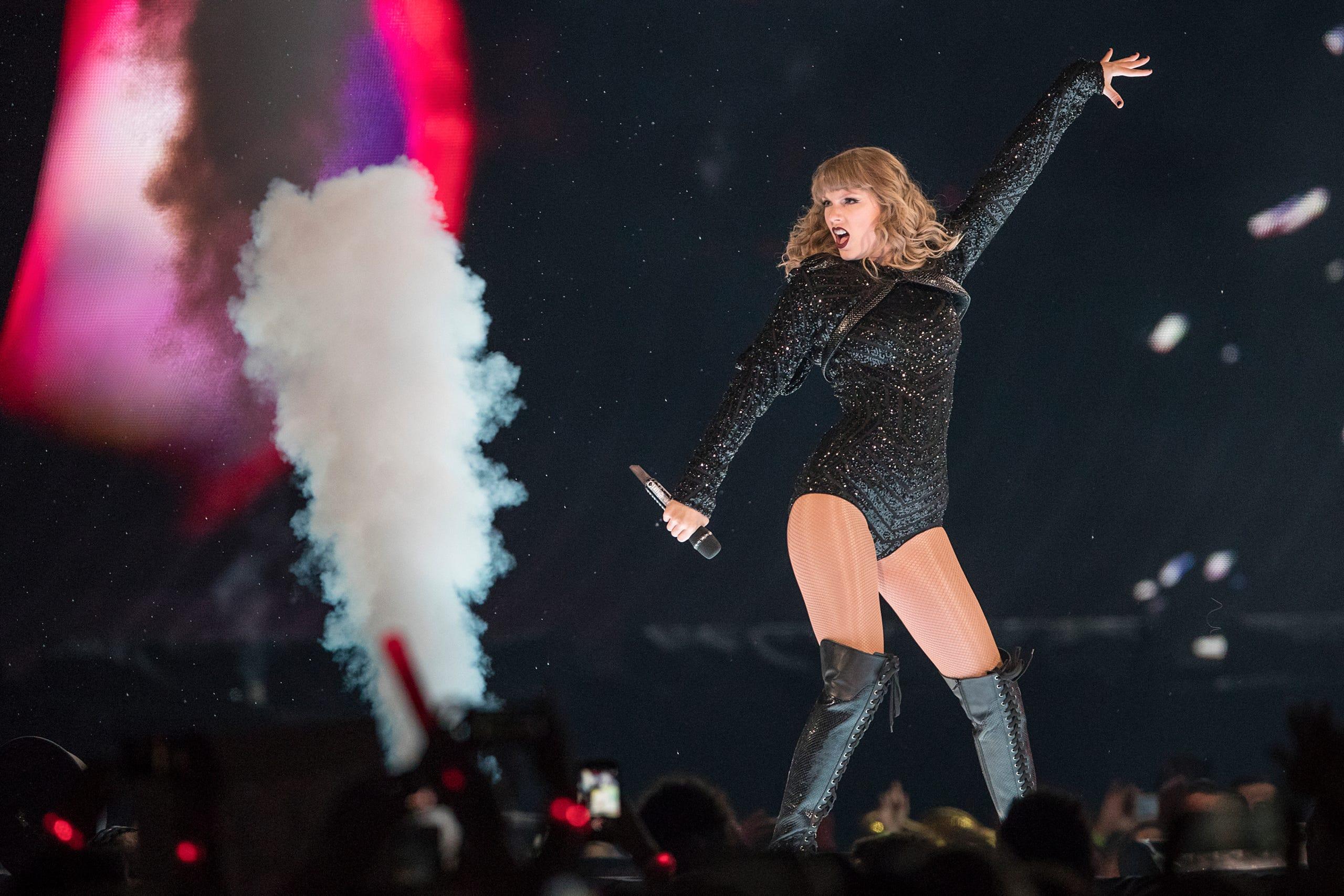 Swifties' flood Lucas Oil Stadium for Taylor Swift's