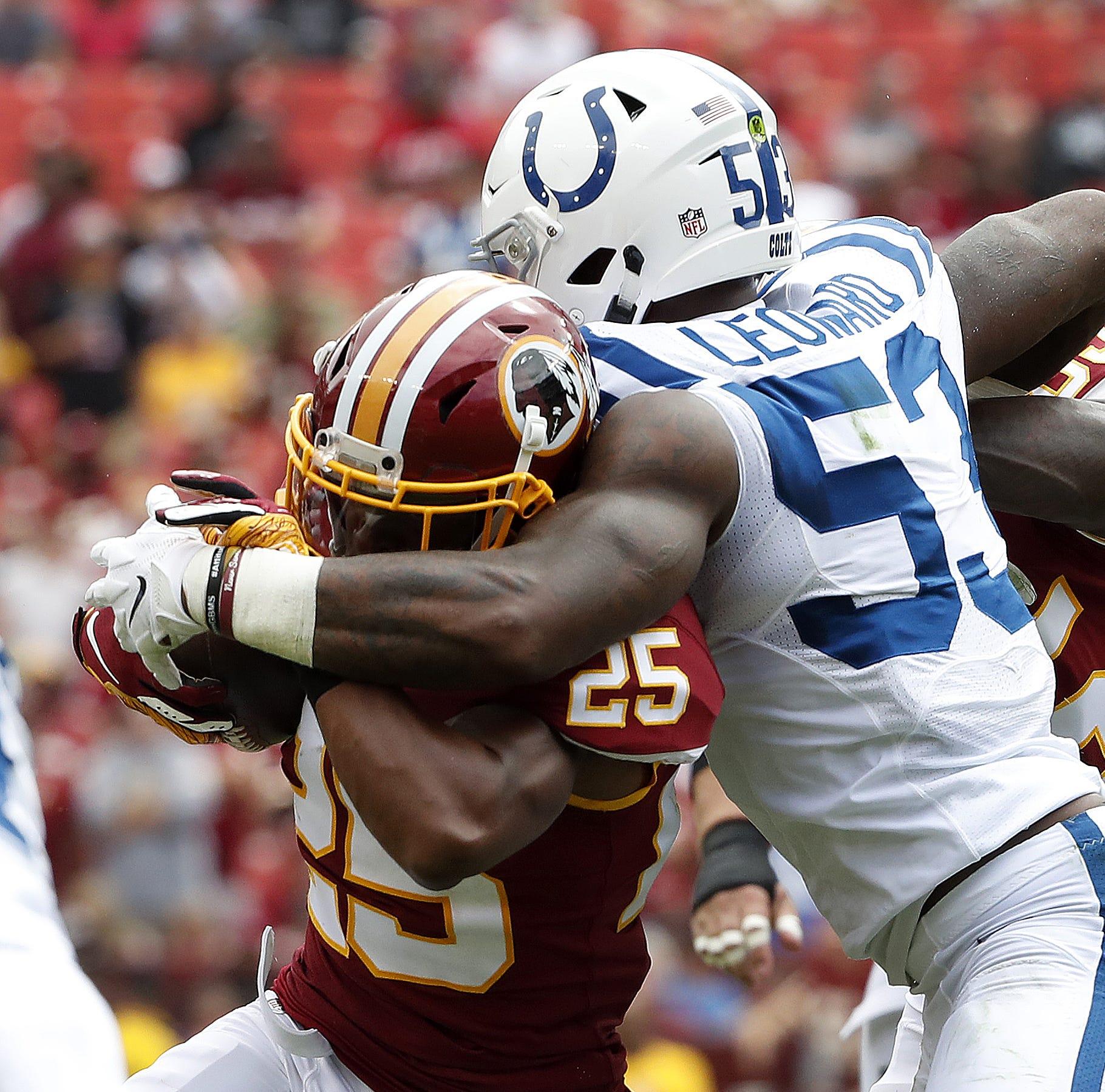 Colts rookie linebacker Darius Leonard named AFC Defensive Player of the Week