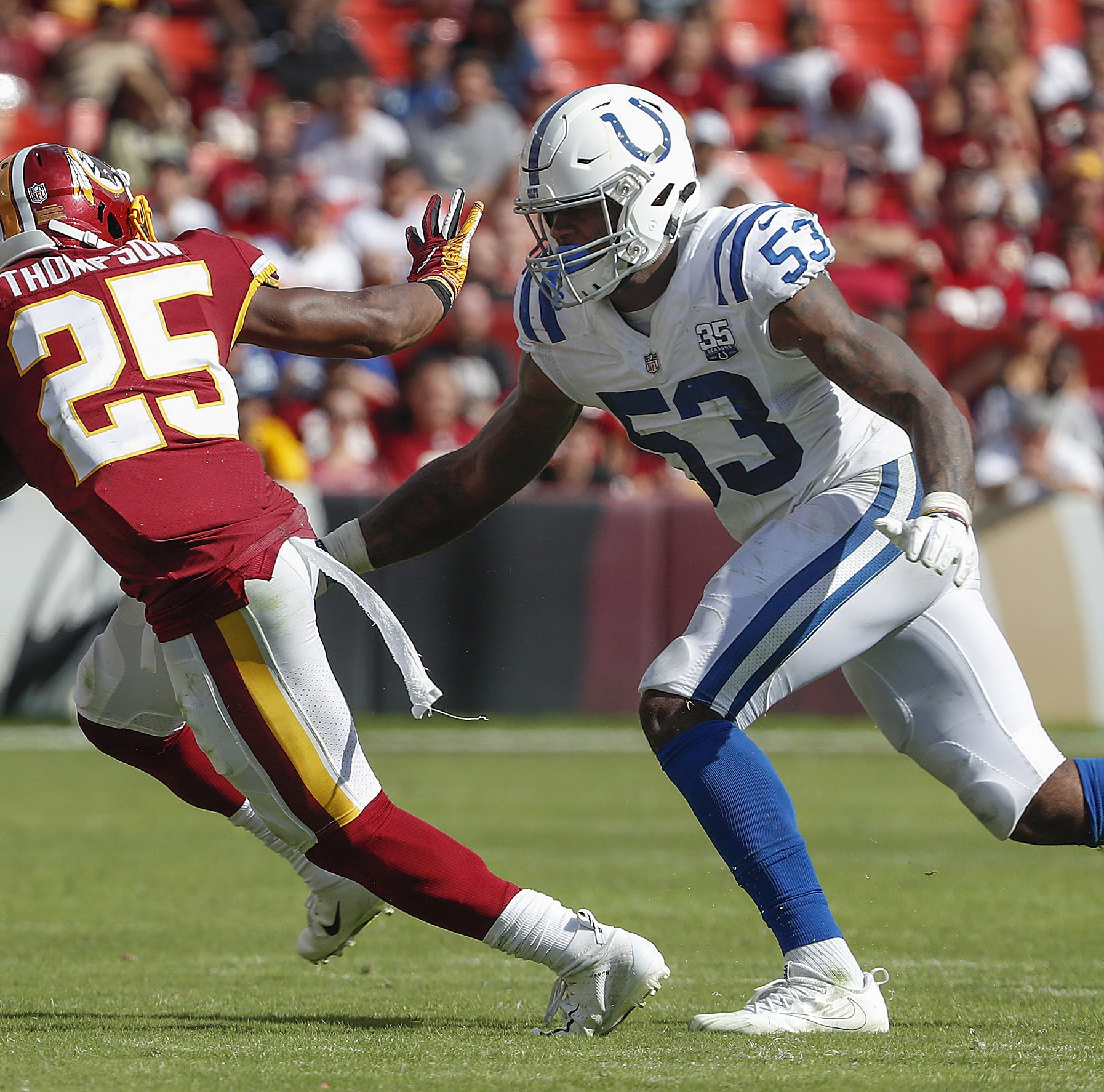 Thumbs up, thumbs down: Darius Leonard, Margus Hunt, Jabaal Sheard help D dominate