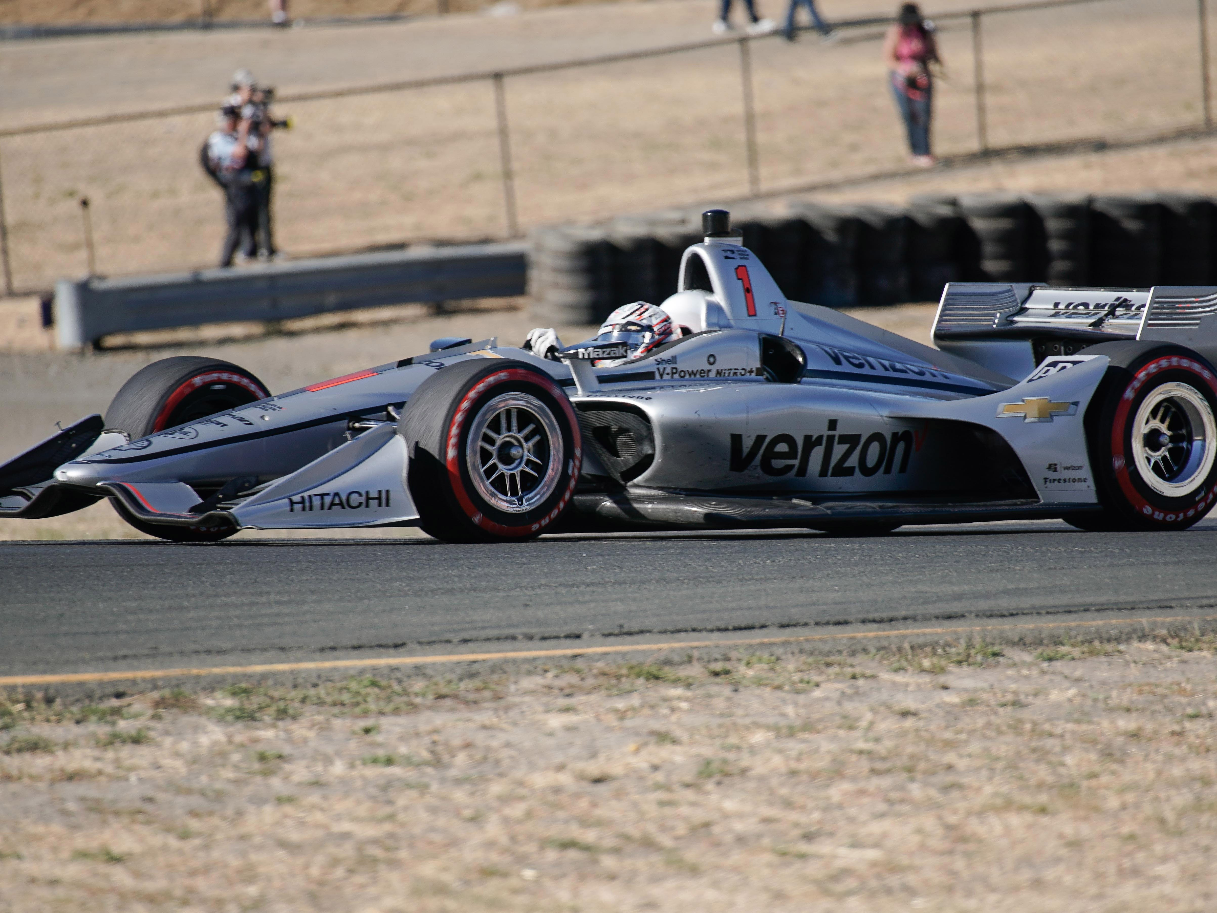 Sep 16, 2018; Sonoma, CA, USA;  Indycar driver Josef Newgarden (1) during the Grand Prix of Sonoma at Sonoma Raceway. Mandatory Credit: Stan Szeto-USA TODAY Sports