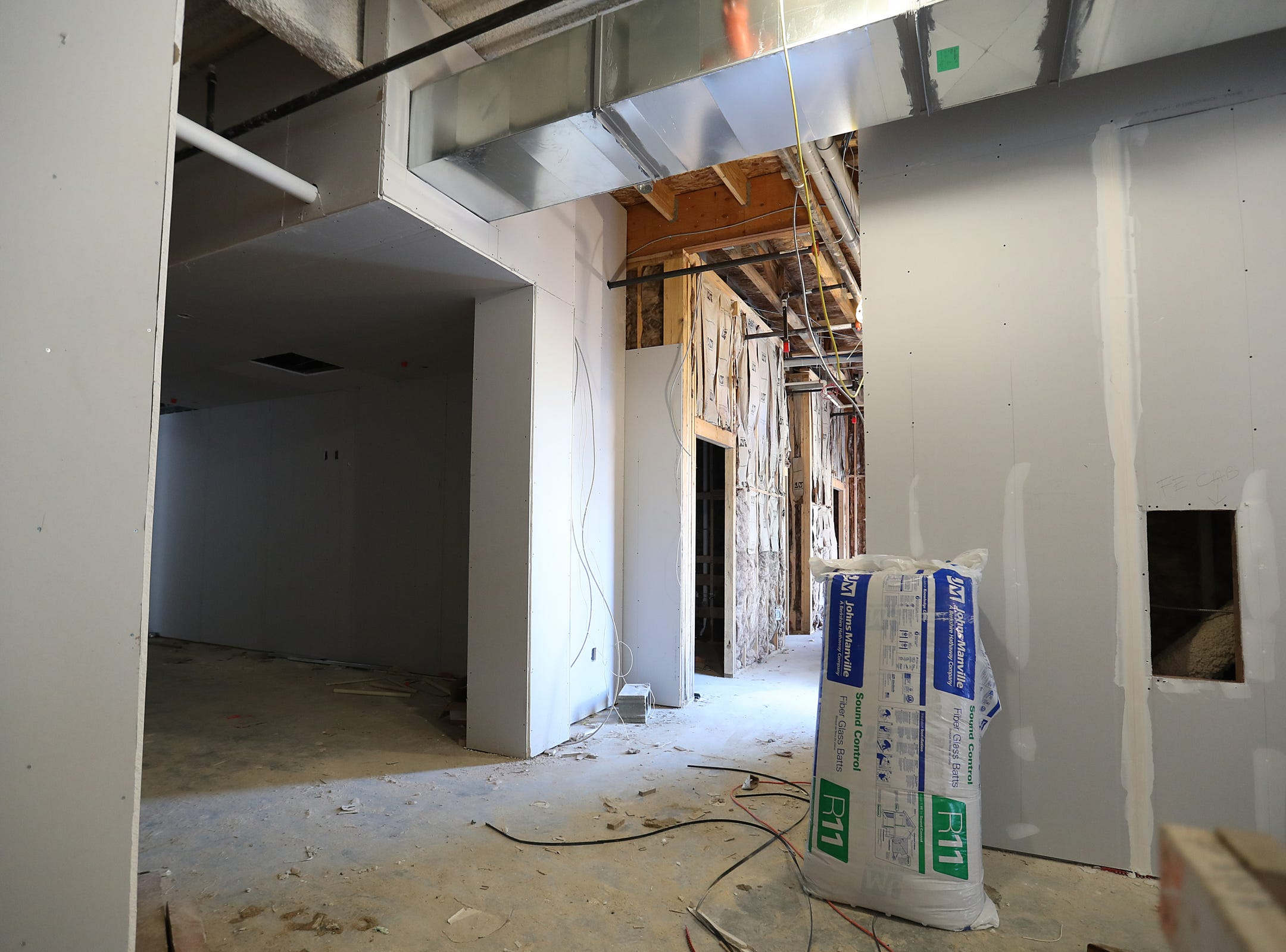 The view inside the mid-construction Spark Apartments in Fishers, Ind., on Friday, Sept. 14, 2018. The apartments, at North Street and Lantern road, will 200 offer one-, two- and three-bedroom apartment units and 11 live/work spaces.