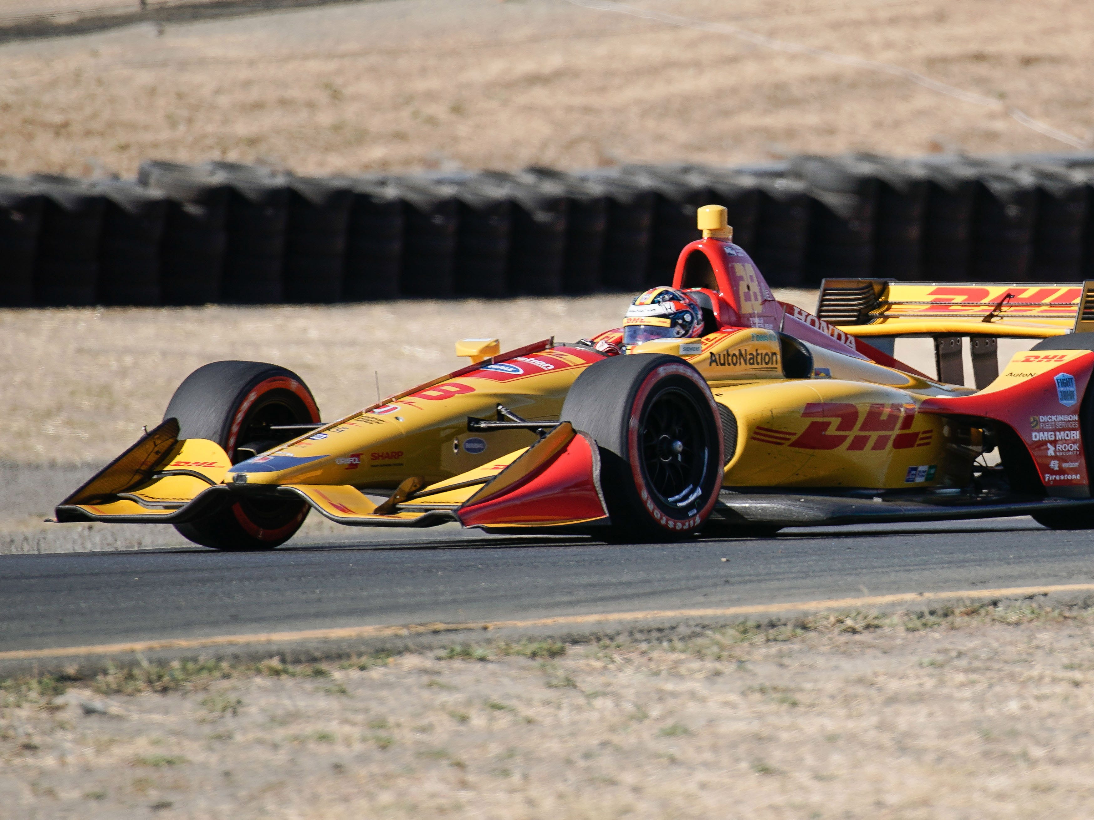 Sep 16, 2018; Sonoma, CA, USA;  Indycar driver Ryan Hunter-Reay (28)  during the Grand Prix of Sonoma at Sonoma Raceway. Mandatory Credit: Stan Szeto-USA TODAY Sports