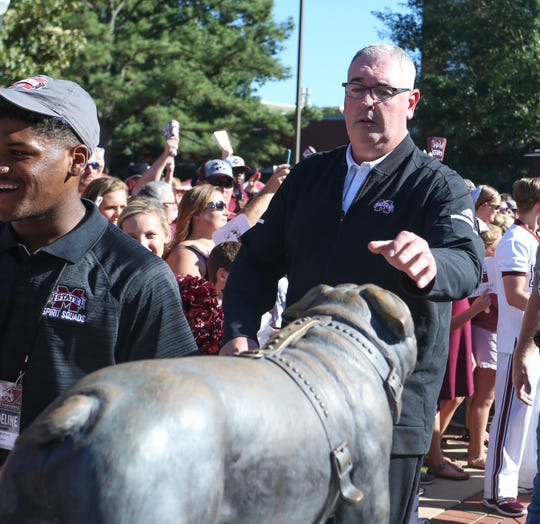 Mississippi State head coach Joe Moorhead is trying to build a culture Bully and Bulldog fans can be proud of. Photo by Keith Warren/Madatory Photo Credit