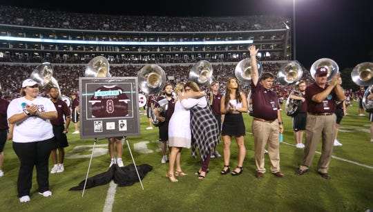 Mississippi State honored former softball player Alex Wilcox by retiring her jersey number. Wilcox died of ovarian cancer in June 2018.