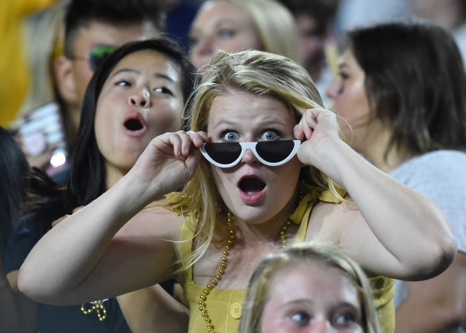 Fans in the stands at the Missouri game Saturday at Ross-Ade Stadium.