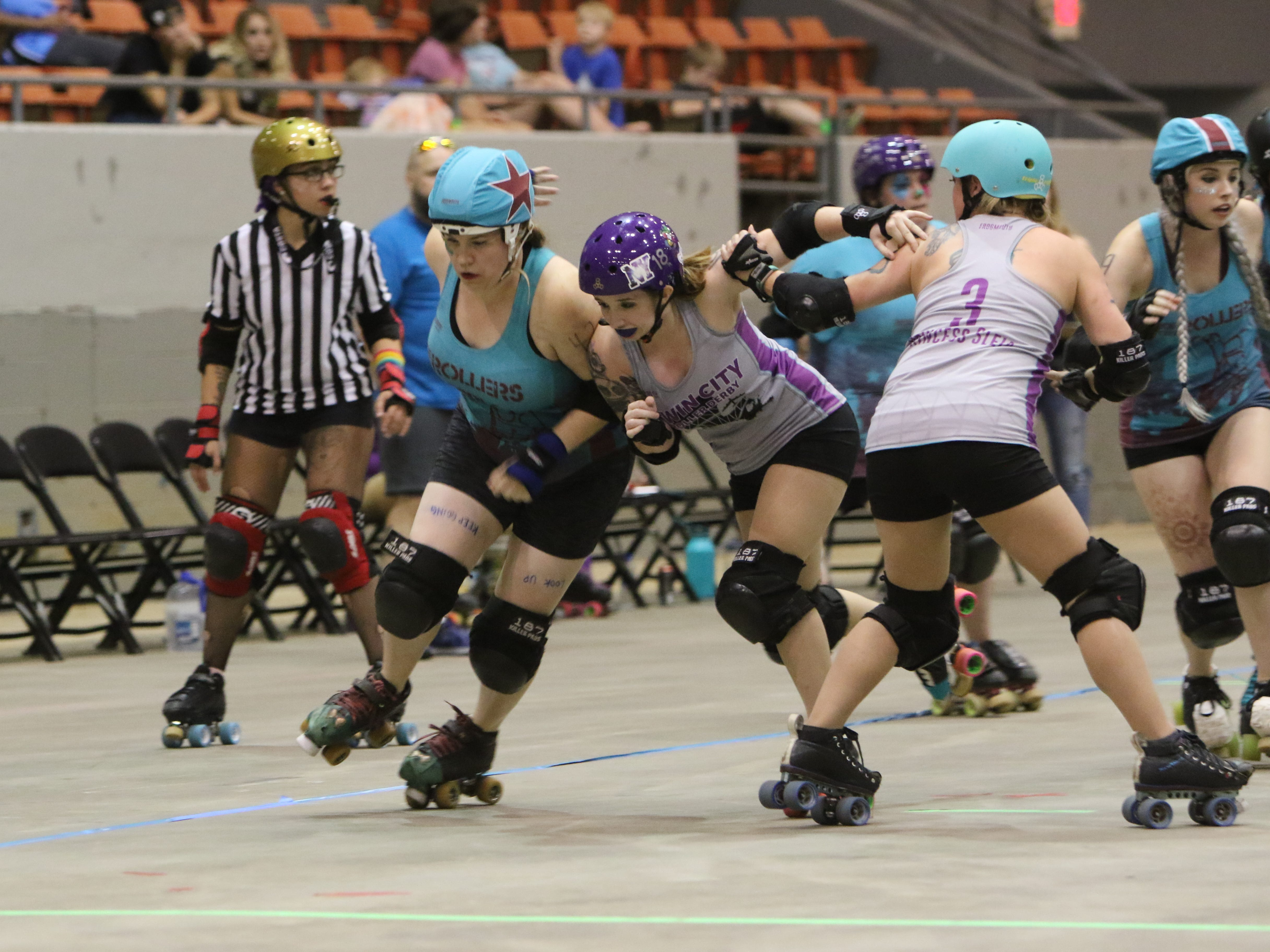 The Roe City Rollers ended their 2018 Home season with a double header playing Third Coast Roller Derby from Texas and Twin City Roller Derby from Shreveport on Saturday, September 15, in the Monroe Civic Center.