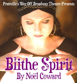 """""""Blithe Spirit"""" by Noel Coward will open Thursday at Prattville's Way Off Broadway Theater, and will run Fridays, Saturdays, and Sundays through October 7."""