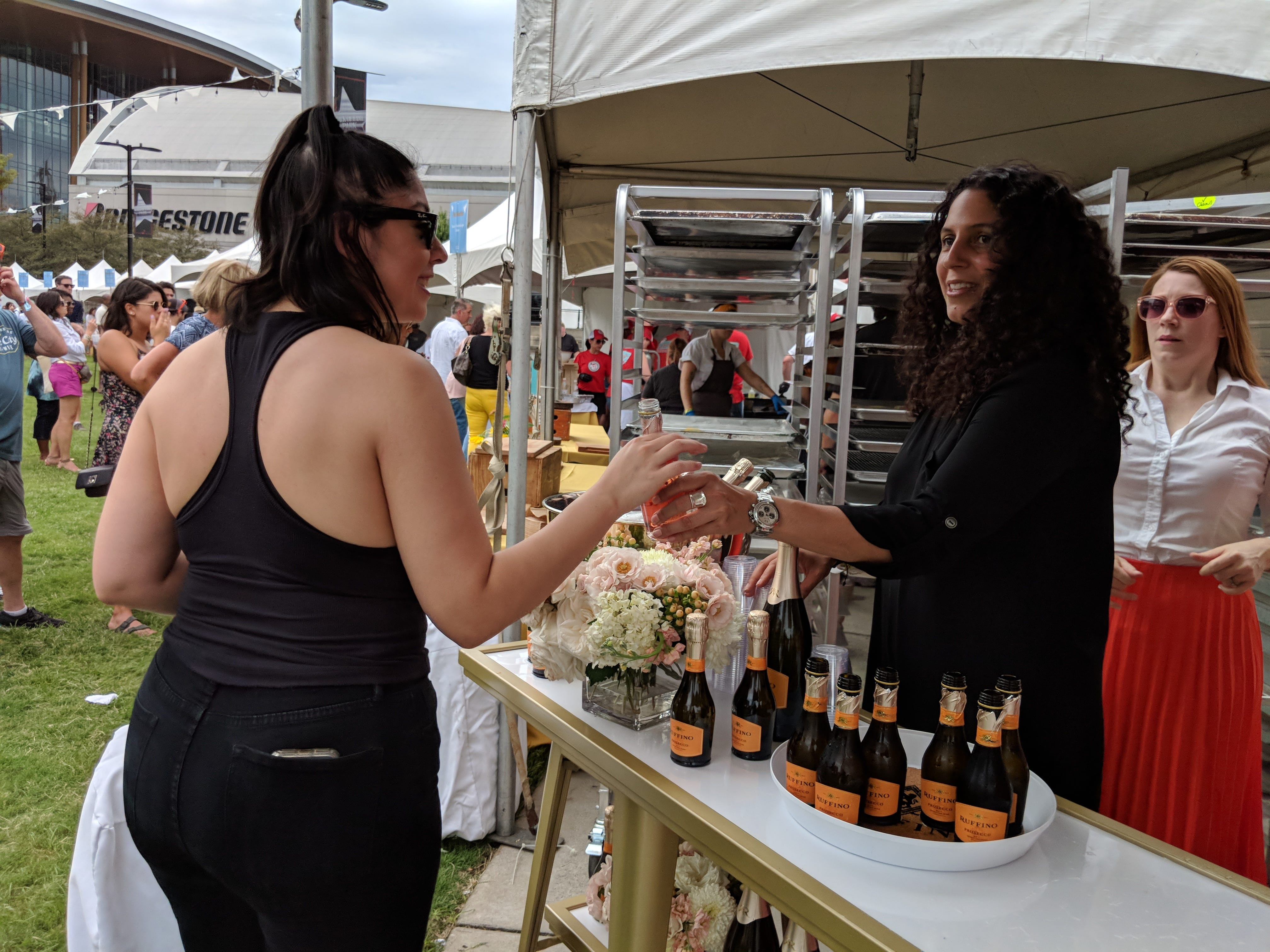 Ruffino passed out mini rosé bottles to event attendees.