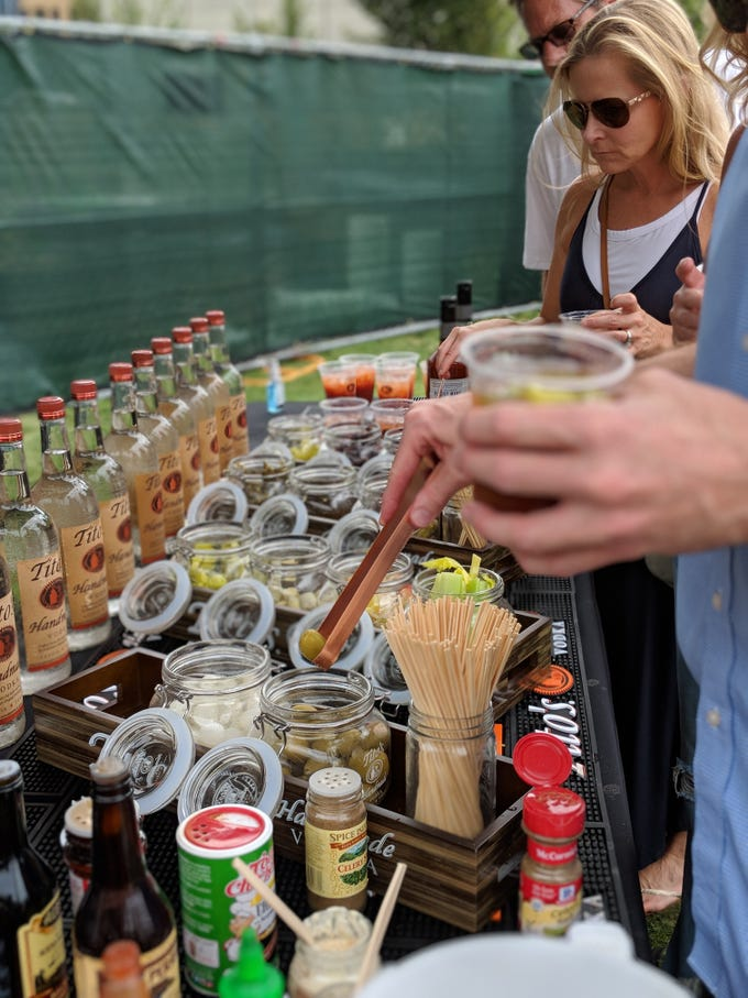 """Tito's Vodka presented the popular """"build your own"""" Bloody Mary bar at Gospel Brunch"""