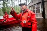 Coast Guard BMC Stephen Kelly speaks about leading his team during Florence