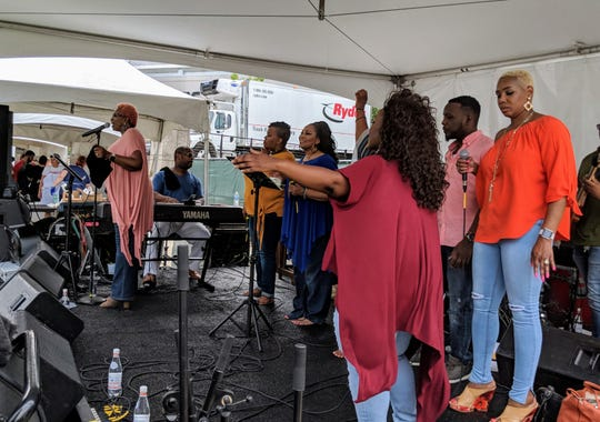 Grammy Award winner Gale Mayes performs at the Music City Food + Wine Festival Gospel Brunch.