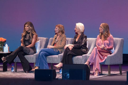 BergenPAC hosted Celebrity Housewives Live featuring Teresa Giudice, Dorinda Medley, Kelly Dodd and Carole Radziwill. The evening was moderated by Anthony Wilkinson. The event raised money for OASIS, a women's shelter in Paterson. 09/15/2018