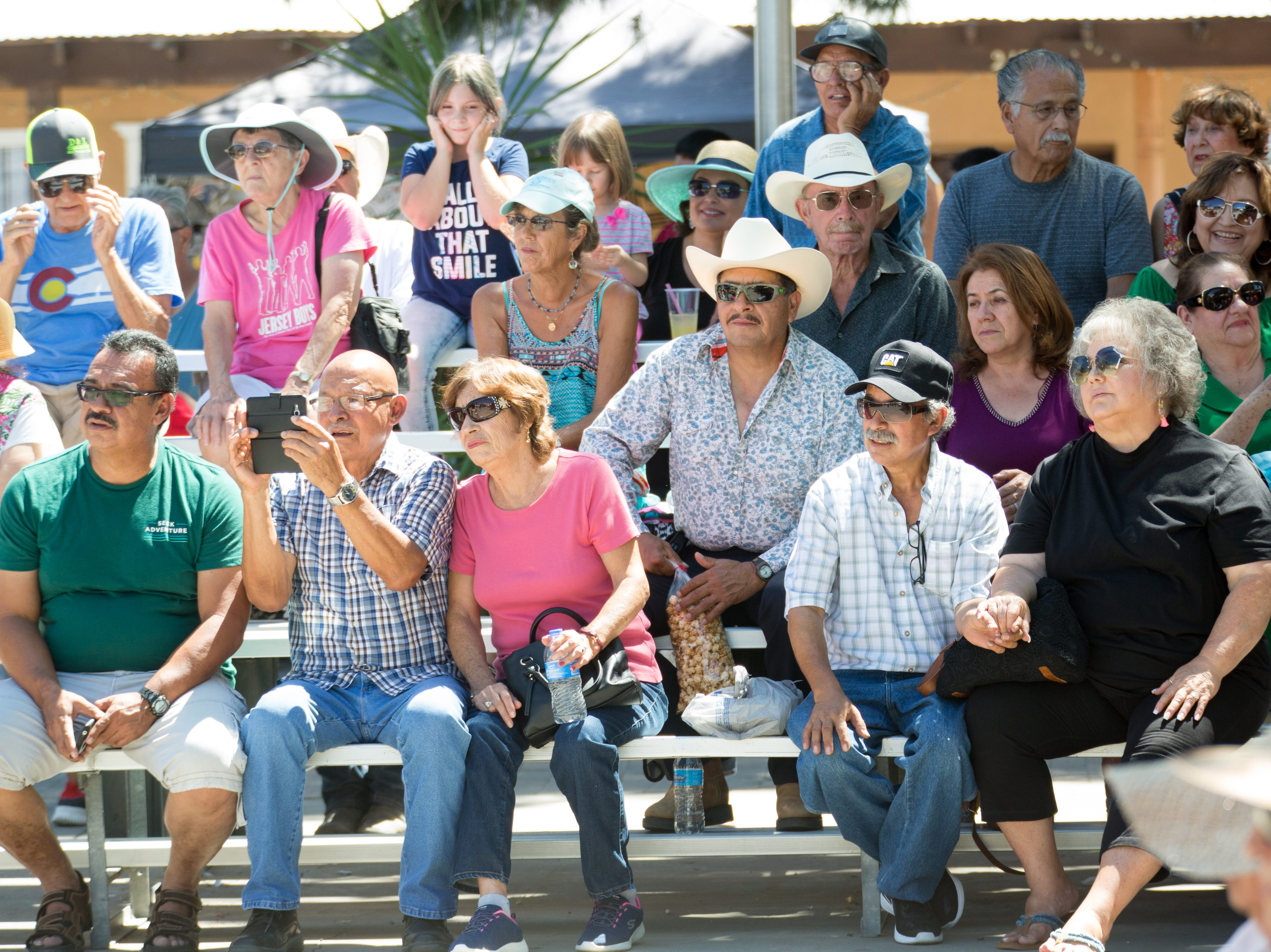 Many come to enjoy the festivities and watch the entertainment on Sunday, September 16, 2018 during the Diez y Seis de Septiembre Fiesta at the Mesilla Plaza.