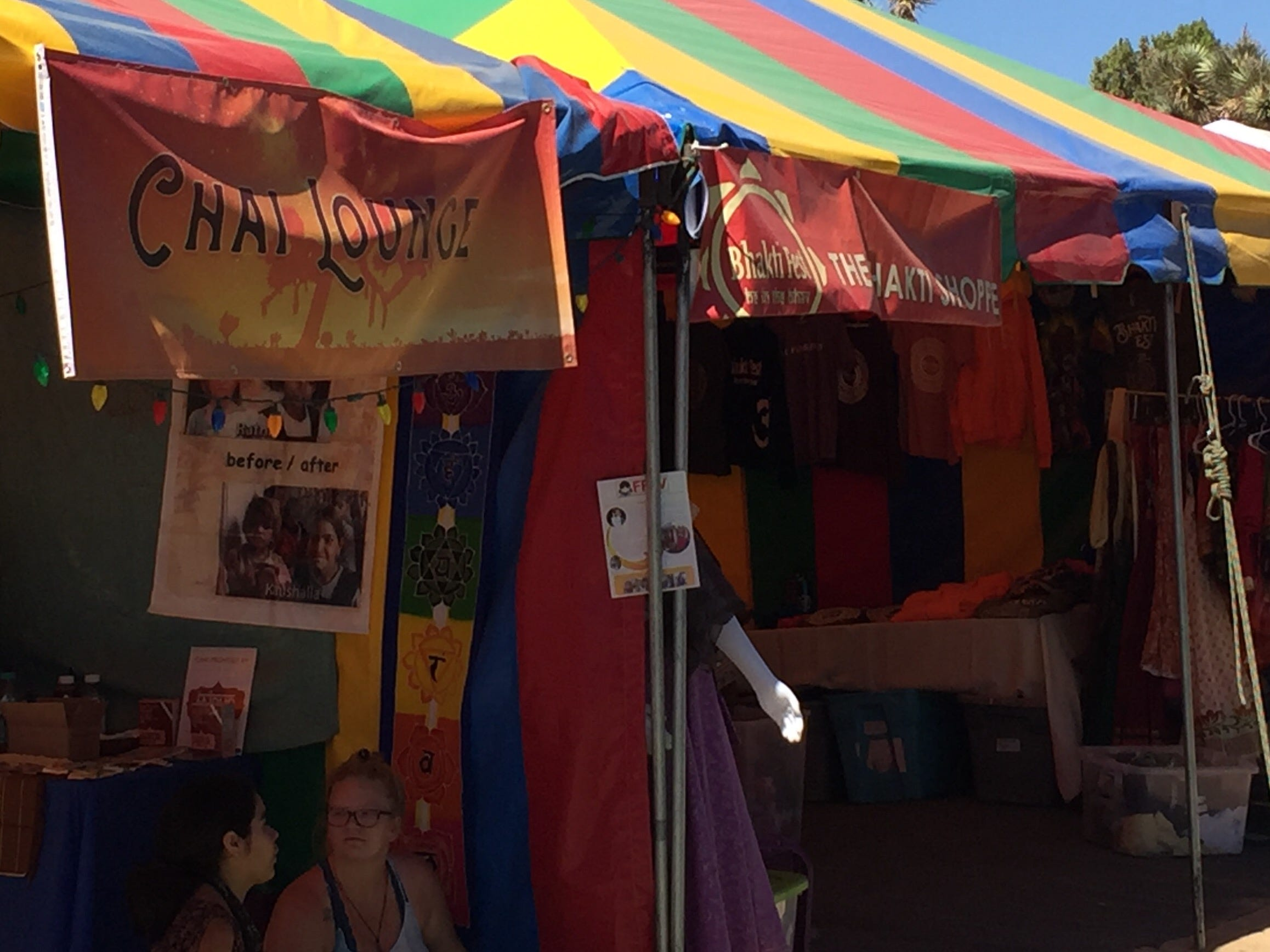 Vendors are a big part of Bhakti Fest, an event that celebrates East Indian sacred music, yoga and integrative health. This is the 10th anniversary of the festival.