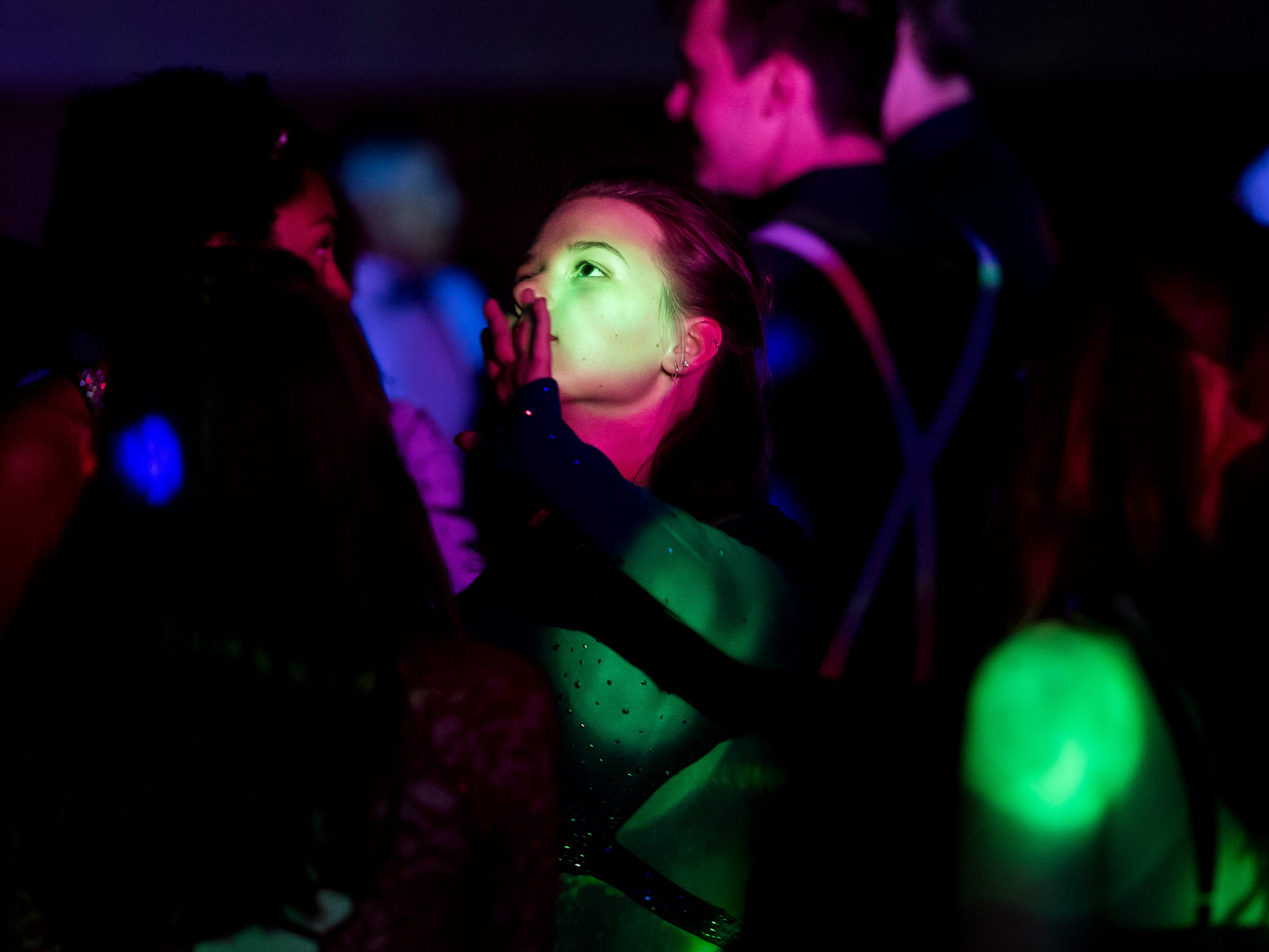 Students attend Hanover High School's homecoming dance on Saturday, September 15, 2018.