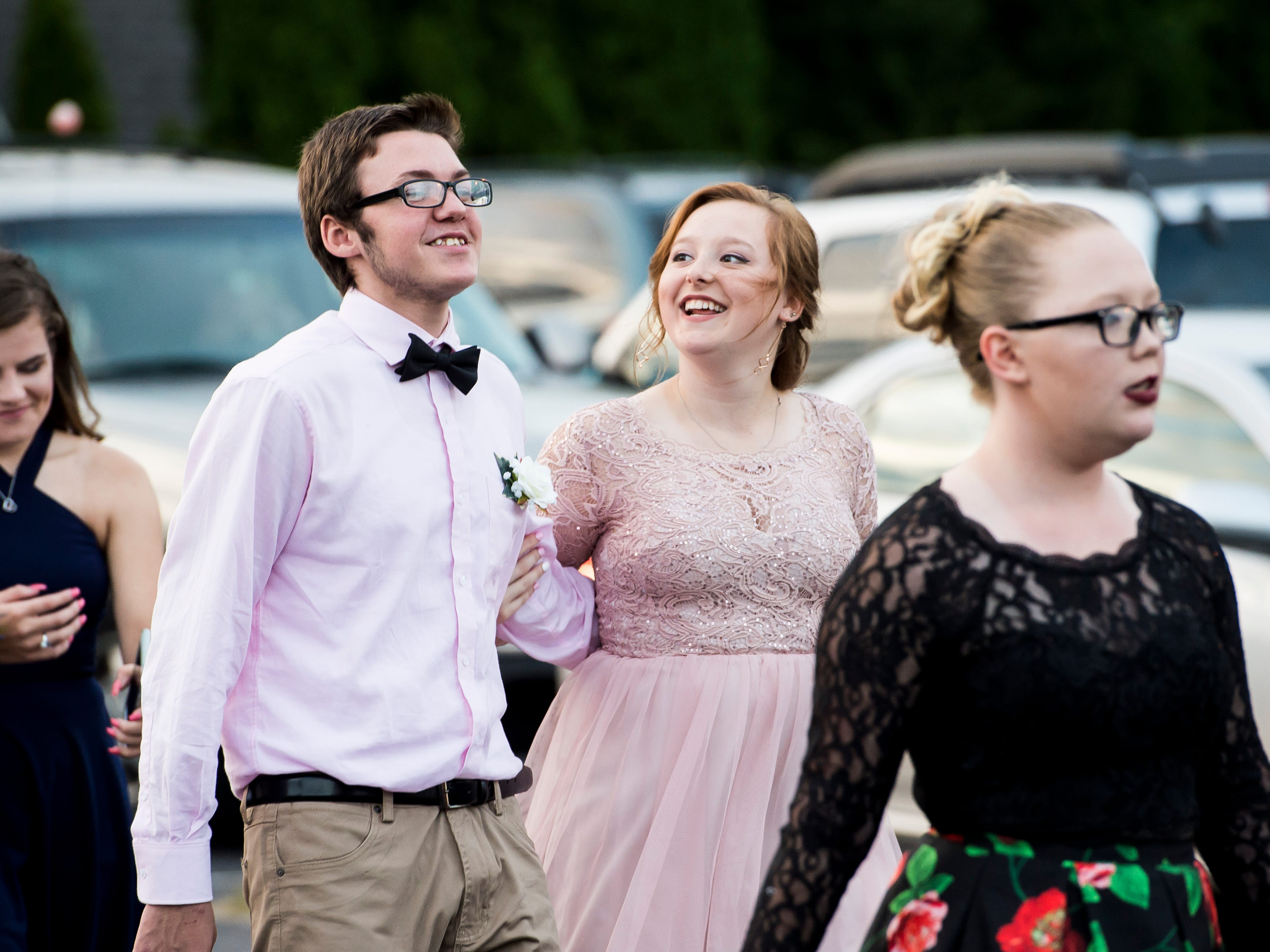Students arrive at Hanover High School's homecoming dance on Saturday, September 15, 2018.