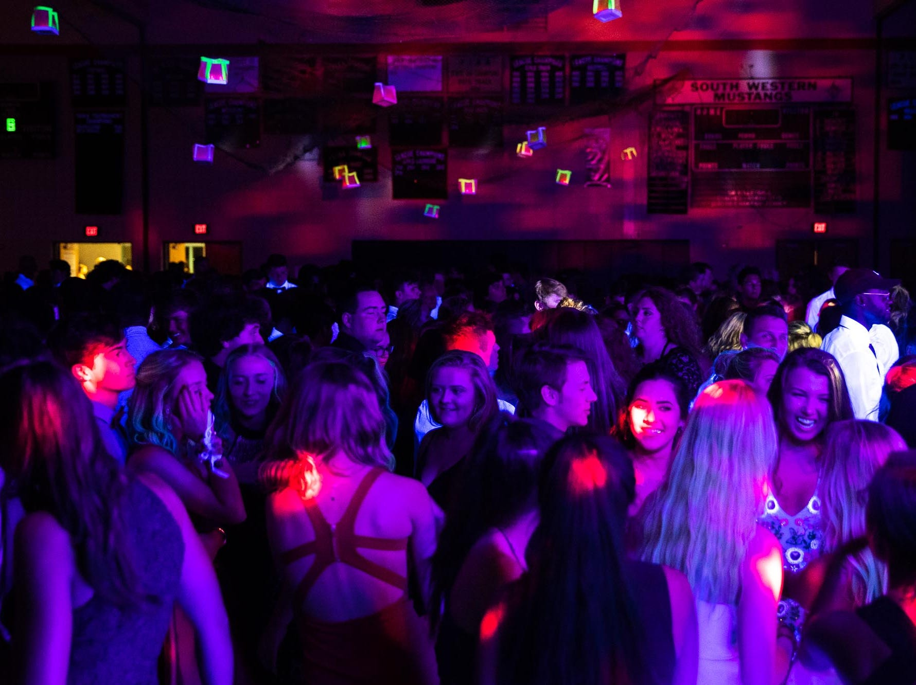 South Western students attend their homecoming dance, Saturday, Sept. 15, 2018, at South Western High School in Penn Township.