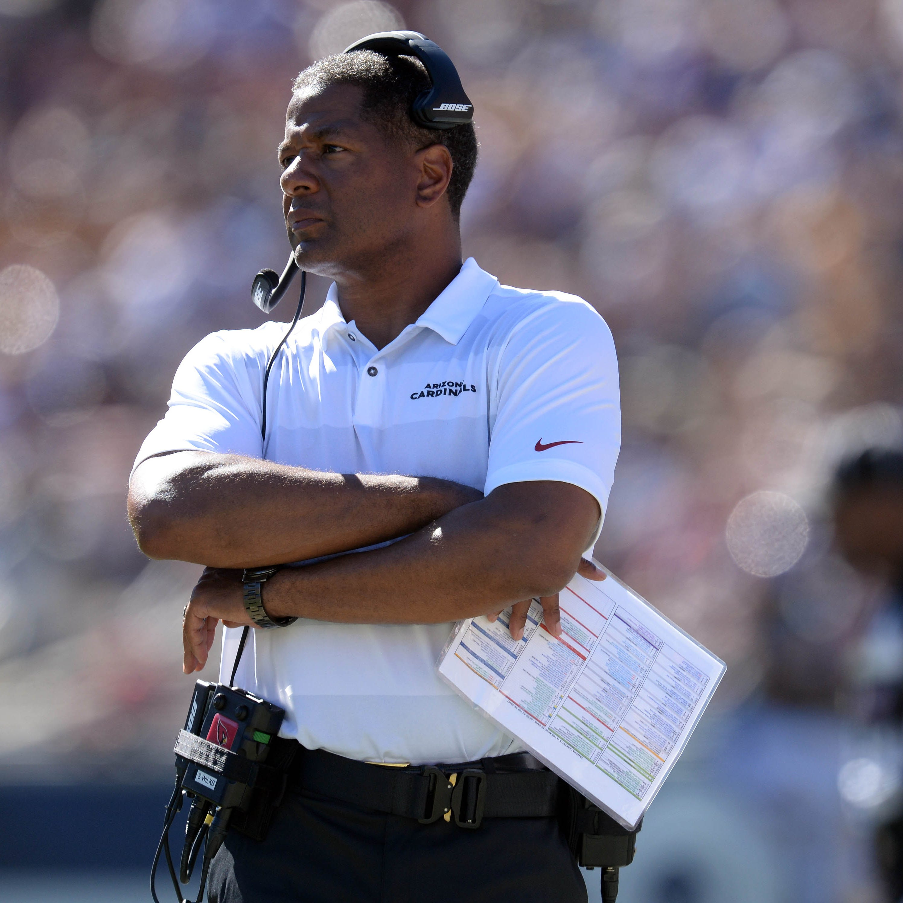 Cardinals coach Steve Wilks walking thin line between change and panic