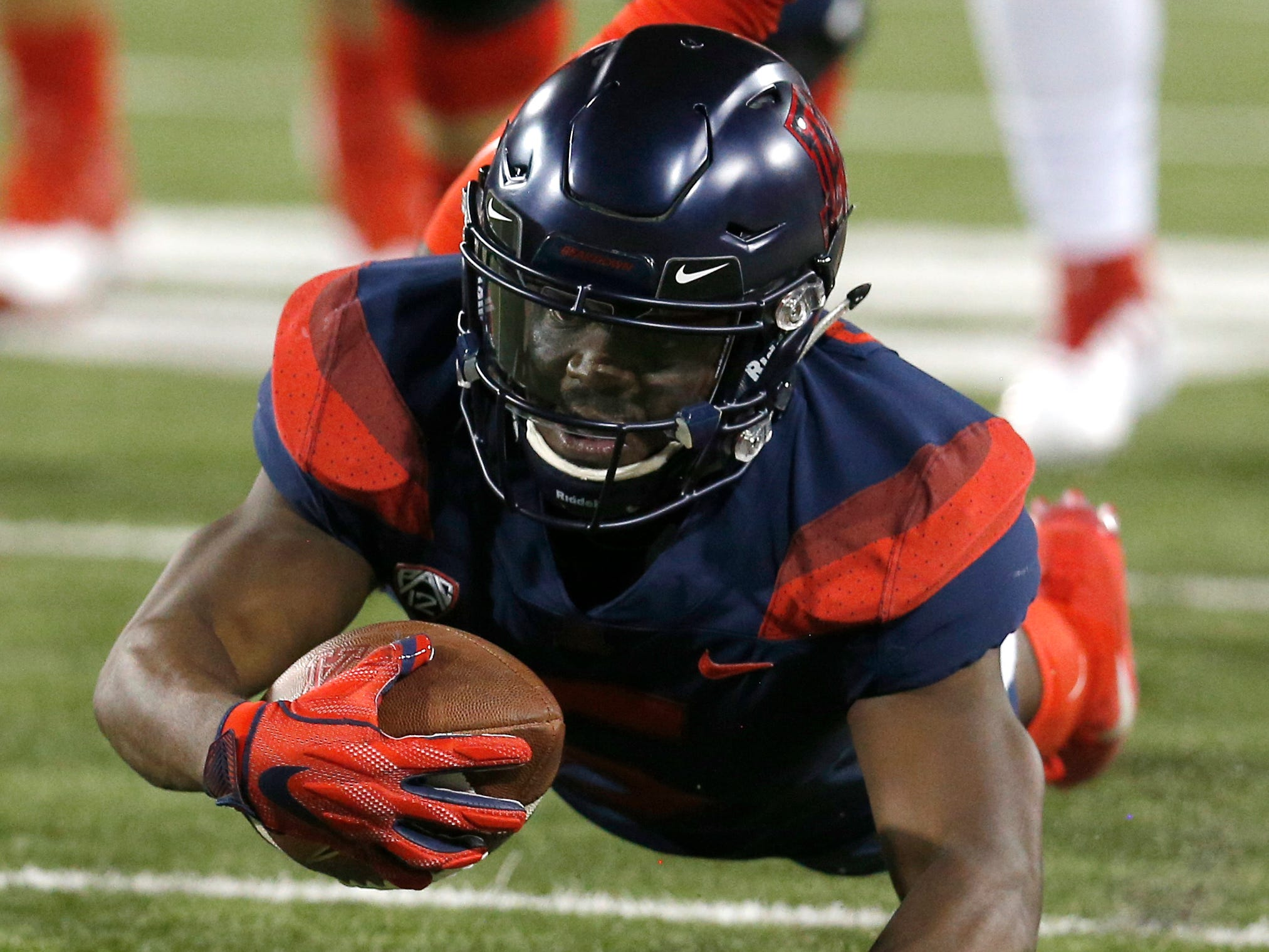 Arizona wide receiver Shun Brown (6) in the first half during an NCAA college football game against Southern Utah, Saturday, Sept. 15, 2018, in Tucson, Ariz. (AP Photo/Rick Scuteri)