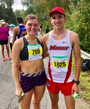 Allison Davis of Westtown and Nick Cruz of Washingtonville won the women's and men's half marathons, respectively, at the 40th annual Dutchess County Classic in LaGrange on Sunday.