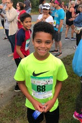 Poughkeepsie 11-year-old Noah Mellen won the boys' 1-mile kids race for a second straight year at the Dutchess County Classic on Sunday.