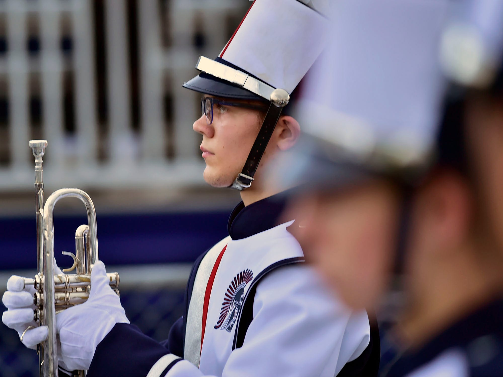 The Chambersburg Trojan Marching Band put on a show at Trojan Stadium. Chambersburg routed South Western 51-26 in football on Friday, Aug. 31, 2018.