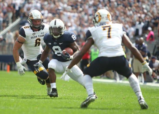 Penn State running back Mark Allen runs the ball in a 63-10 win against Kent State on Saturday, Sept. 15, 2018, at Beaver Stadium in University Park, Pennsylvania.
