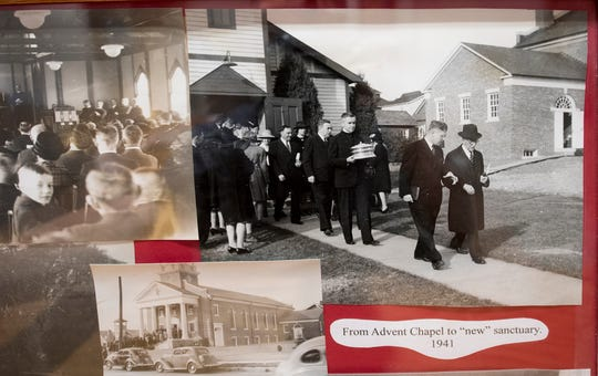 A ceremony took place in 1941 when the congregation of Advent Lutheran Church moved from the old church to the new one. The earlier building was later torn town.