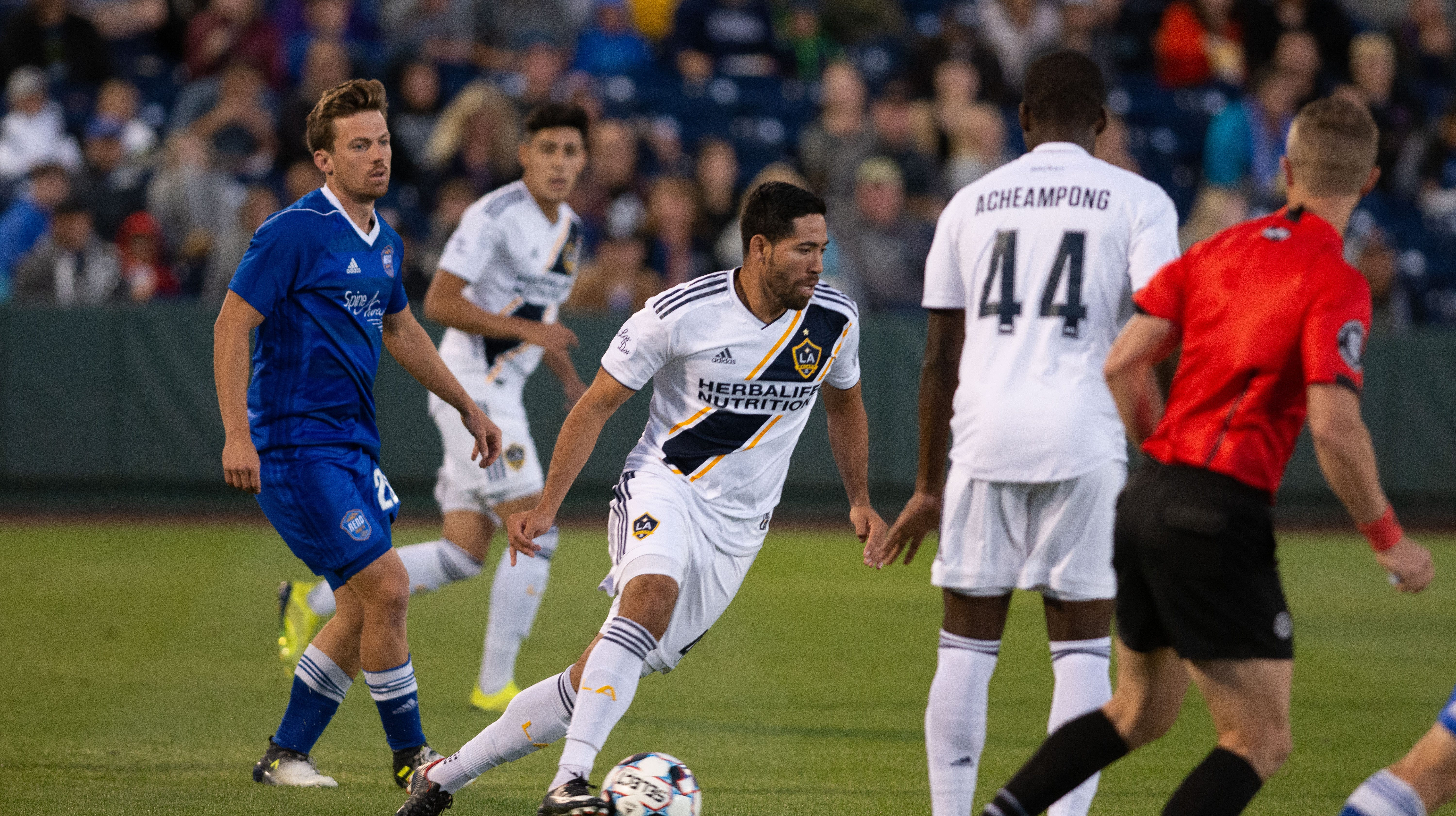 Reno 868 FC takes in LA Galaxy on Saturday night at Greater Nevada Field.