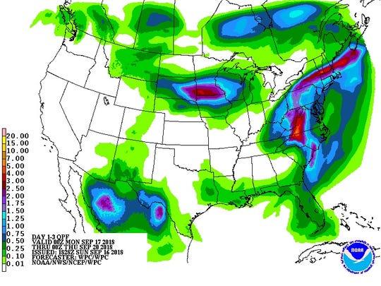 Florence rainfall forecast