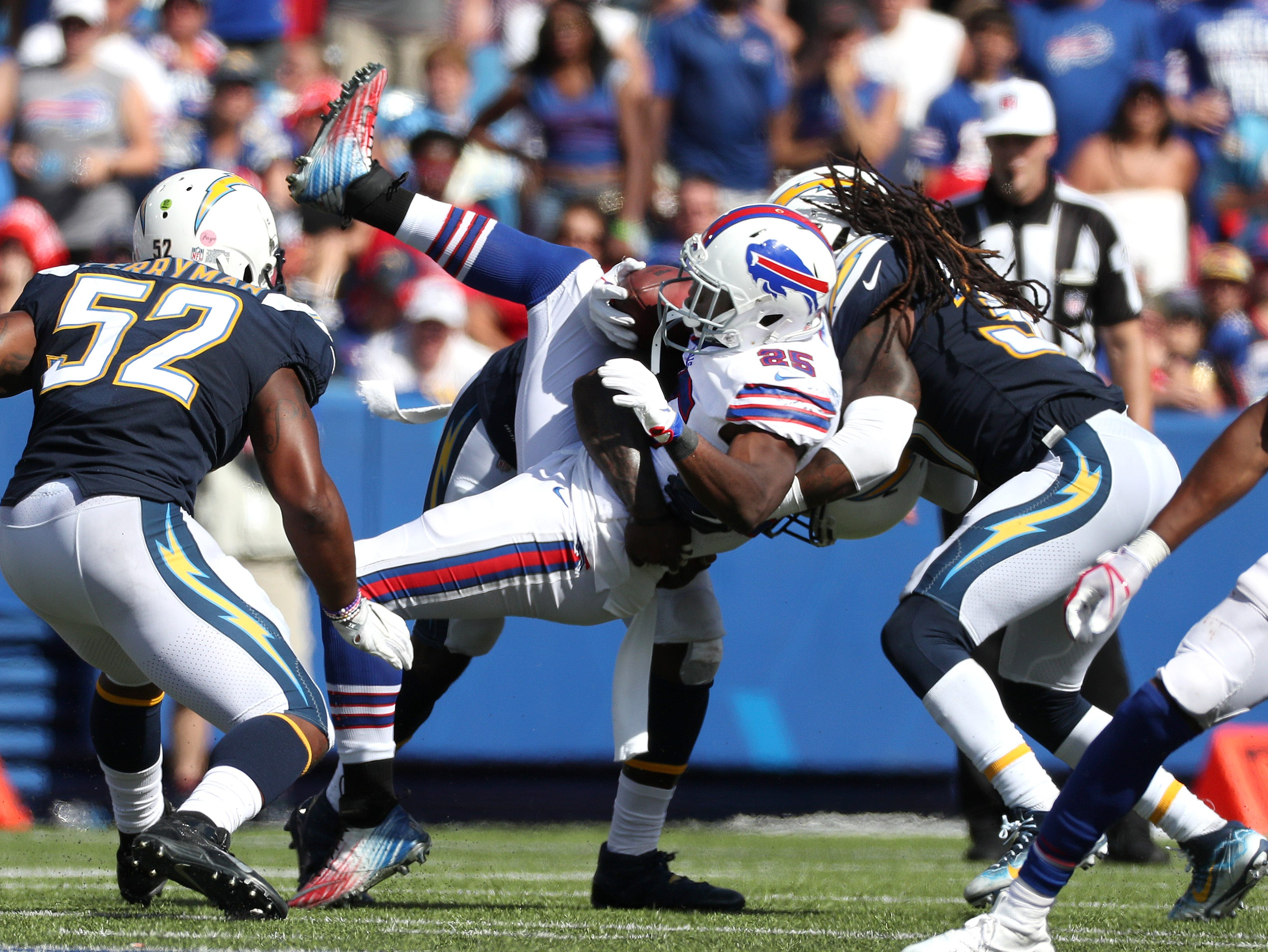 Bills running back LeSean McCoy was held to 39 yards in a 31-20 loss to Chargers.