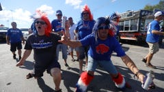 Tailgating Buffalo Bill fans devoted to their team