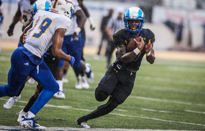 Angelo State University running back Tyrese Nathan will try to help the Rams snap a two-game losing streak when they travel to Western New Mexico on Saturday.