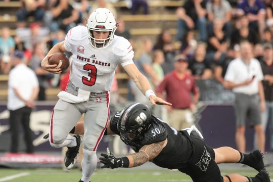 Weber State knocked off Austin Simmons and USD on Sept. 15 in Ogden, Utah.