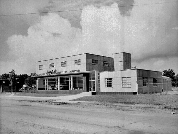 Historic image of the Coca Cola Bottling Plant on South Monroe Street.