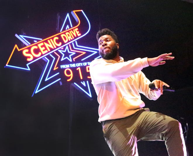 El Paso's Khalid dazzled a standing room only crowd with his lyrics, moves and stage show Saturday in the Don Haskins Center. The arena echoed with the many voices singing along to his songs. The singer song-writer held two sold out shows in the city he considers home.