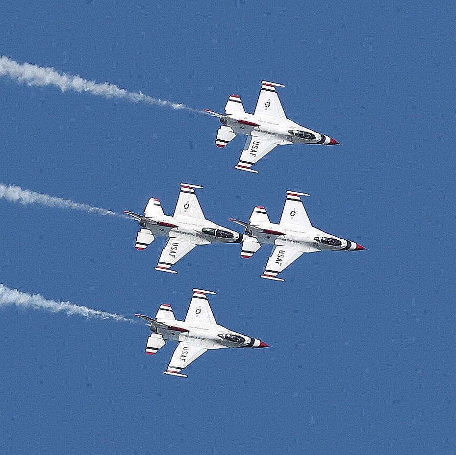 Watch the Thunderbirds soar at NY Air Show