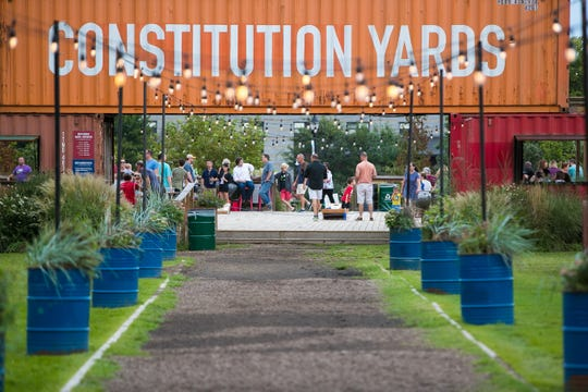 Constitution Yards Beer Garden in Wilmington, seen in this file photo, is now open at 30 percent capacity and features live music Friday and Saturday nights.