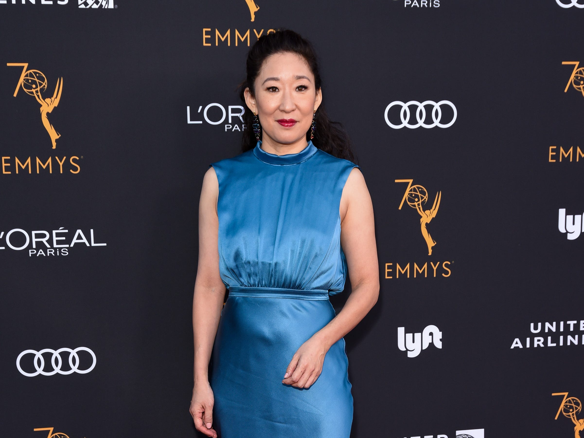 BEVERLY HILLS, CA - SEPTEMBER 15:  Sandra Oh attends Television Academy Honors Emmy Nominated Performers - Arrivals at Wallis Annenberg Center for the Performing Arts on September 15, 2018 in Beverly Hills, California.  (Photo by Presley Ann/Getty Images) ORG XMIT: 775226214 ORIG FILE ID: 1034003992